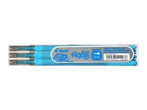 Wkłady do cienkopisu Pilot Frixion Point 0,5mm, 3 szt. - niebieski jasny (BLS-FRP5-LB-S3)