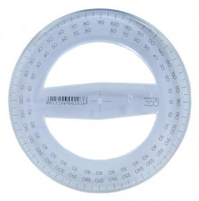 Kątomierz Pratel 12cm 360 stopni (KPL203)