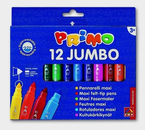 Flamastry Primo Jumbo 12 kolorów