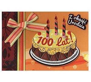 Karnet Urodziny Z okazji Urodzin 100 lat tort DK-235 DK-235