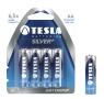 Baterie. 4x bateria alkaliczna Tesla AA Silver+ LR06