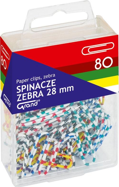 Spinacze Grand zebra 28 mm 80 sztuk