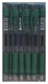 Długopis żelowy automatyczny zielony 12 sztuk