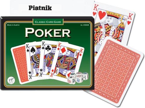 Karty do gry Piatnik 2 talie, Karty Poker