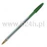 Długopis crystal zielony .