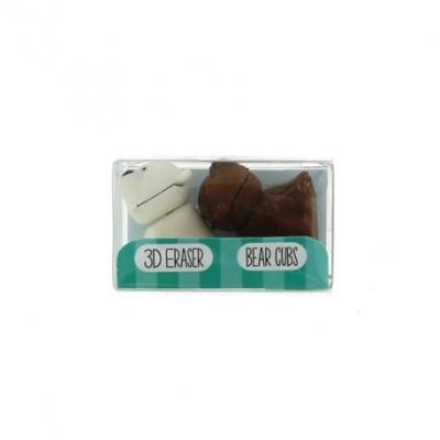 Gumki do mazania - mały zestaw niedźwiadki