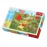 Puzzle 60 elementów Winnie the Pooh Zabawy z latawcami (17204)