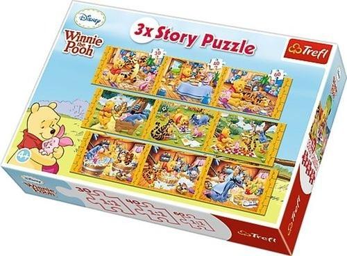 Puzzle 3xStory Kubuś Puchatek (90304)