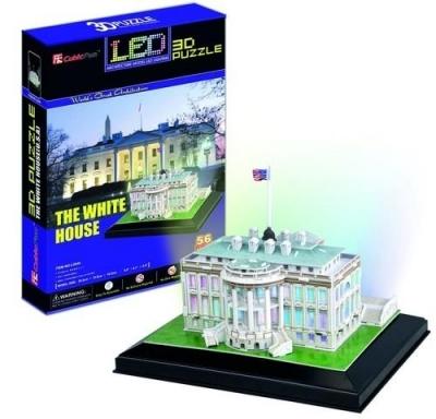 Puzzle 56: Biały Dom. 3D LED .