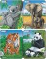 Puzzle Koala Słoń Tygrys Panda