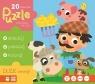 Puzzle Zwierzęta na wsi 20 elementów