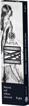 Węgiel naturalny rysunkowy 6-8mm 6szt ASTRA
