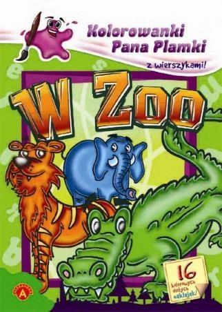 Kolorowanki Pana Plamki z wierszykami W zoo  (5904)