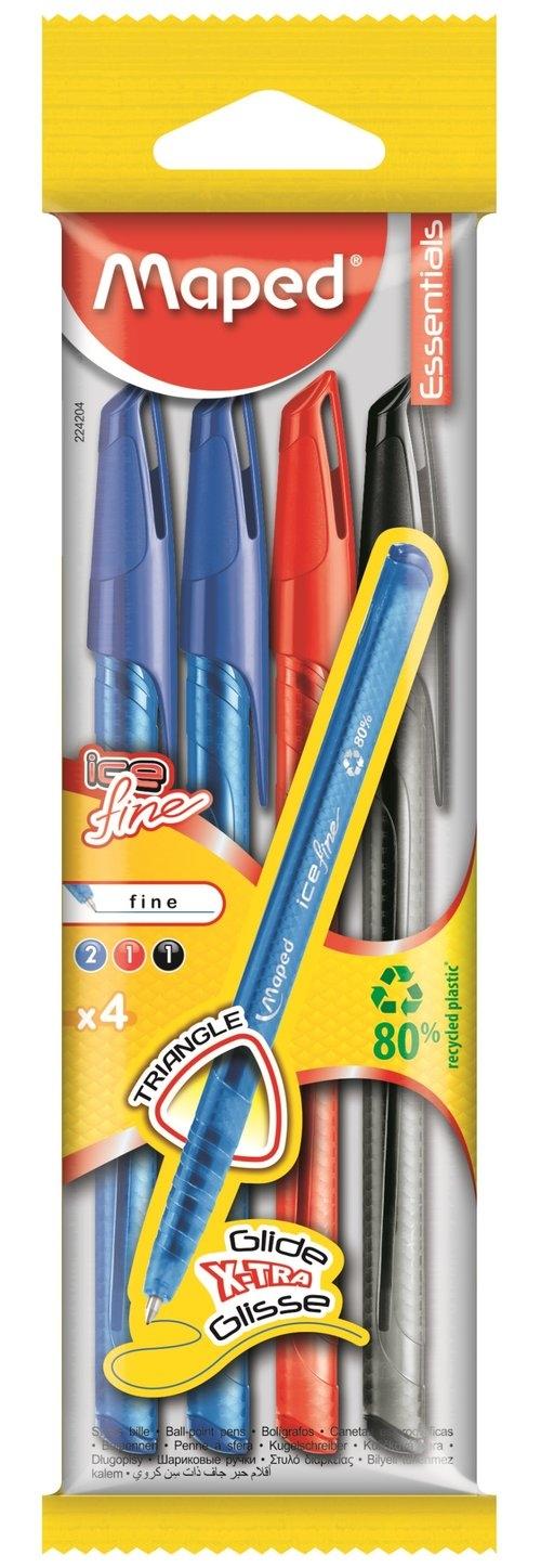 Długopis Ice Fine 4 sztuki mix