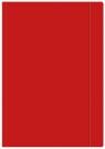 Teczka z gumką Interdruk A4+ jednokolorowa czerwona
