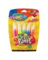 Farby Colorino w tubach z pędzelkiem, neonowe 5 kolorów