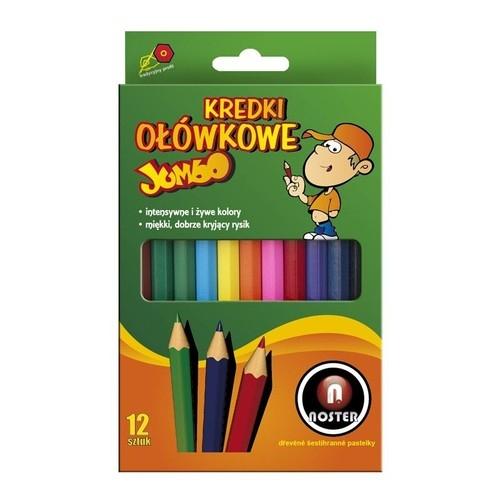 Kredki ołówkowe grube Jumbo 12 kolorów