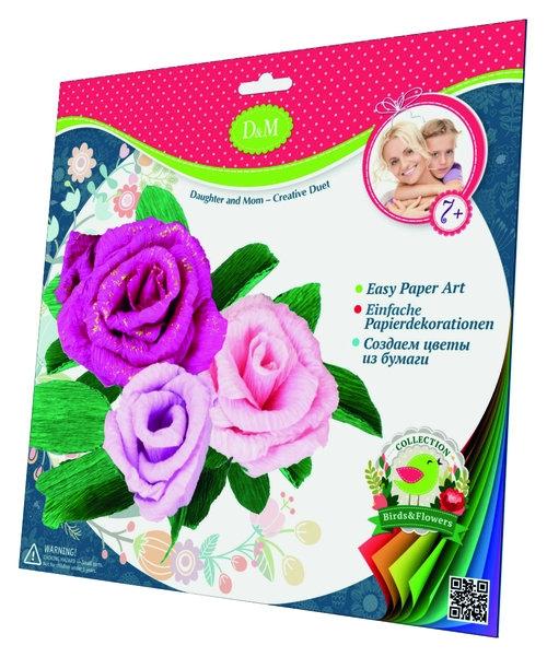 Wykonaj kwiaty z krepiny róże