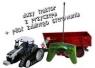 Traktor z przyczepą na pilota