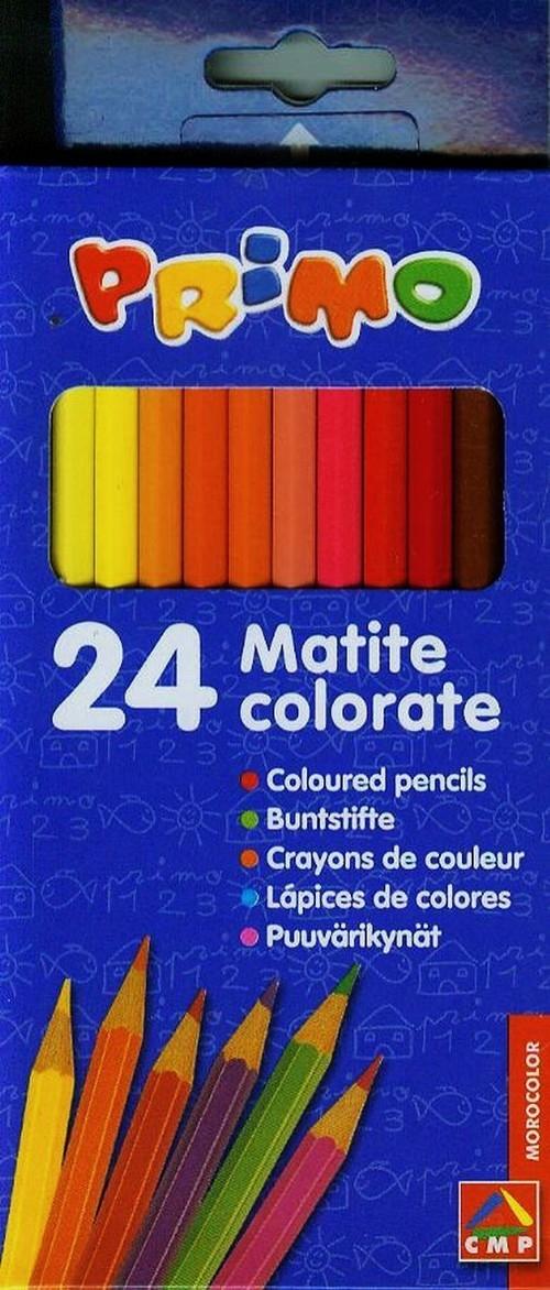 Kredki drewniane sześciokątne 24 kolory