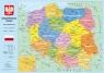 Podkład szkolny na biurko A2 Mapa Polski