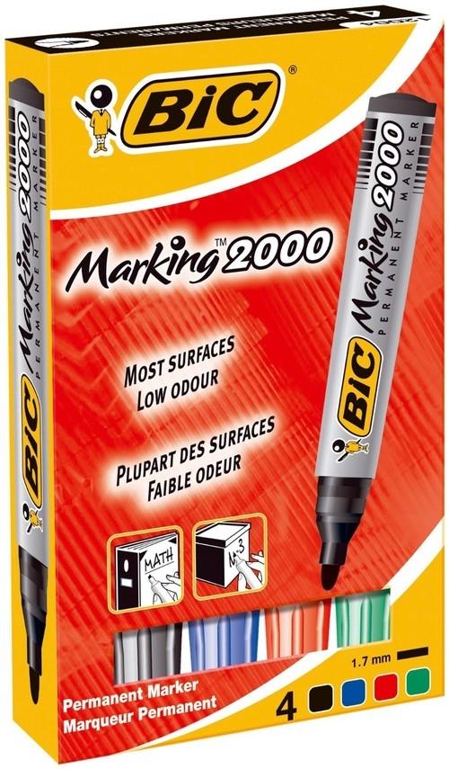 Marker Permanentny Eco 2000 mix kolorów 4 sztuki