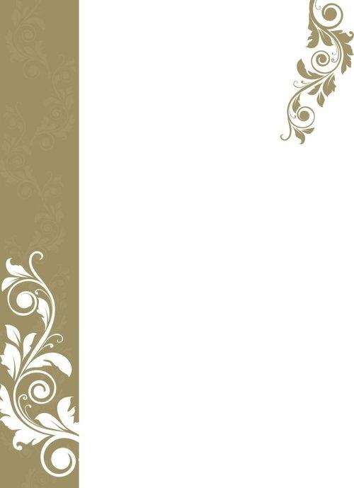 Dyplomy okolicznościowe Ornament złoty