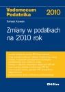 Zmiany w podatkach na 2010 rok