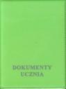 Okładka na dokumenty ucznia pionowa zielona