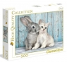 Clementoni Puzzle 500 el HQ Cat and Bunny .