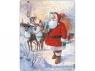 Święty Mikołaj z saniami