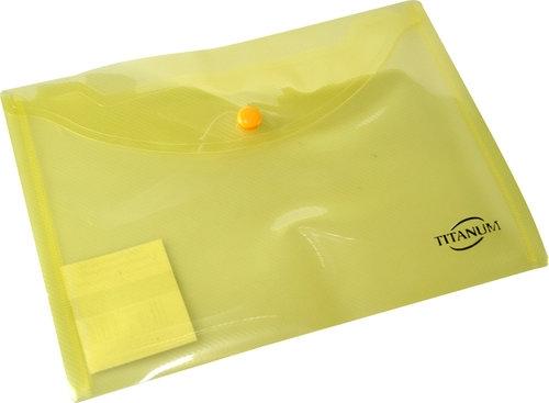Teczka kopertowa A5 żółty transparentny