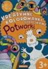 Kreatywne kolorowanki z naklejkami Potworki