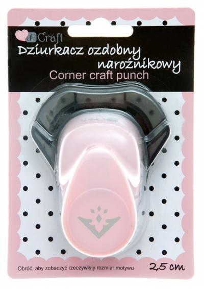 Dziurkacz ozdobny/kreatywny, narożnikowy 2,5cm - diament (JCDZ-210-011)