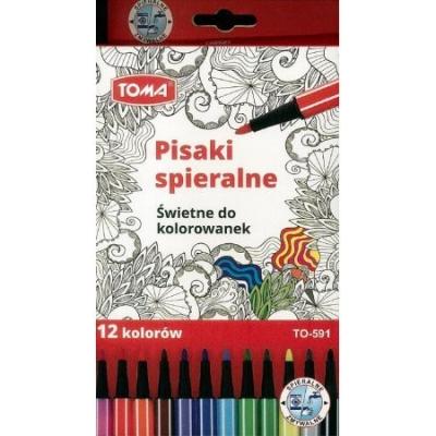 Pisaki zmywalne TOMA, 12 kolorów