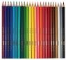 Kolorowe kredki 24 sztuki w metalowym pudełku