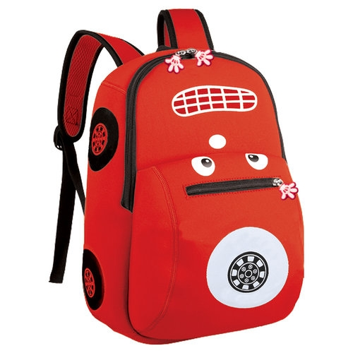 Plecak neoprenowy autko czerwony