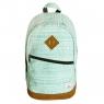 Plecak 20X30XH45 miętowy wzorki .