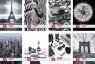 Zeszyt A5 Black&White w kratkę 60 kartek 5 sztuk mix