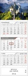 Kalendarz trójdzielny Zamek 2018