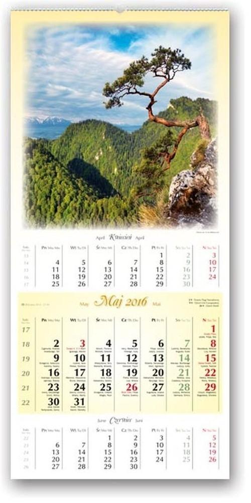 Kalendarz 2016 trójdzielny Polska w pejzażu