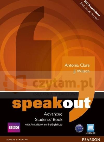Speakout Advanced SB with DVD/ActiveBook/MyLab JJ Wilson, Antonia Clare