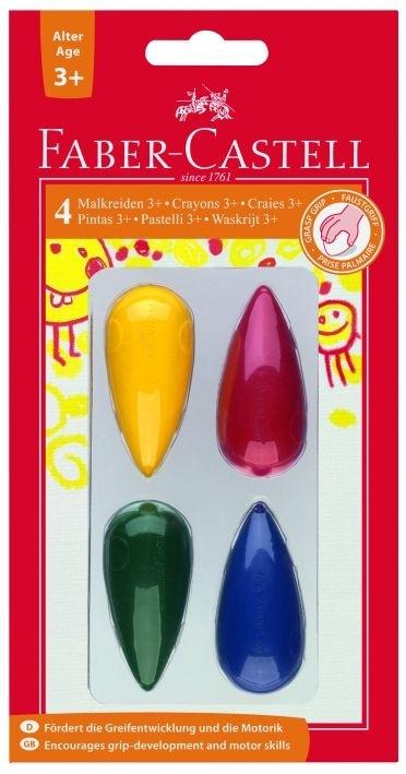 Kredki świecowe 4 kolory Faber-Castell (FC1200405)