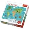 TREFL 80 EL. Mapa świata (91405)