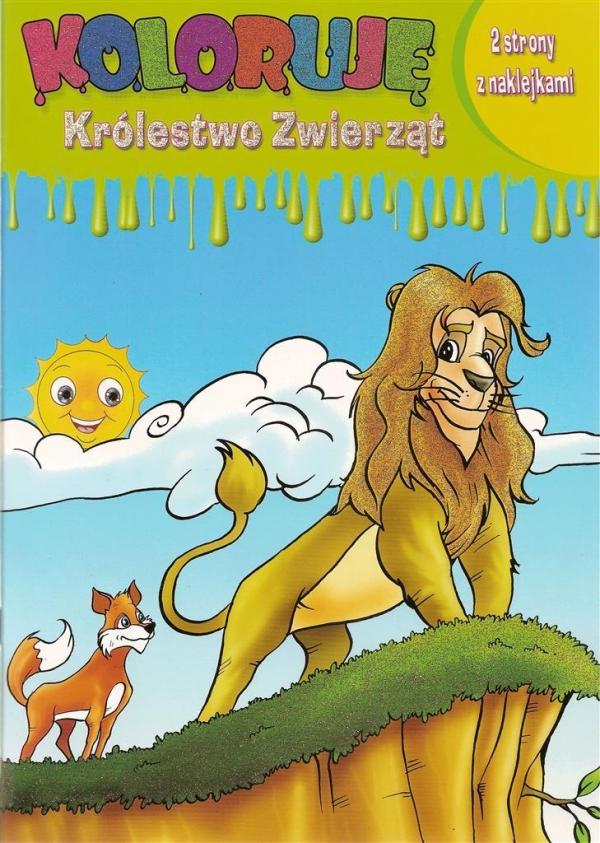 Koloruję Królestwo Zwierząt Lew