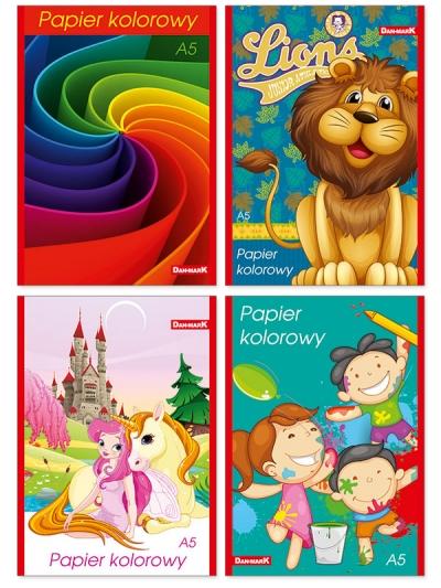 Zeszyty papierów kolorowych Dan-Mark DANMARK