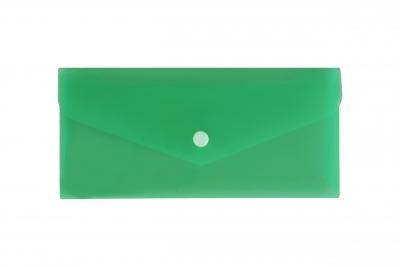 Teczka koperta dl satyna zielonaTKS-03-02 BIURFOL