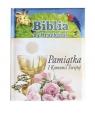 Biblia z obrazkami niebieska Pamiątka I komunii świętej Thoroe Charlotte