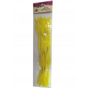 Druciki faliste żółte 6x30cm 15szt.16001