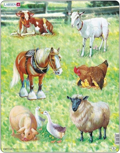 Puzzle Zwierzęta gospodarskie 34